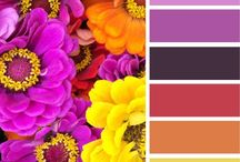 Color palettes / Color for many things: quilts, nails, home decor, and the list can go on. / by Tiffini Slocumb