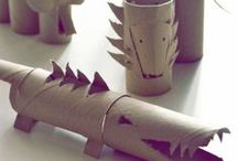 egg carton & paper roll projects