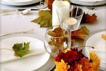 Autumn table setting / #fall #autumn #thanksgiving #elegant #halloween #table #decor and #setting
