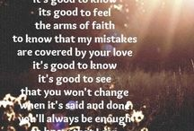 Francesca Battistelli / It's good to know, it's good to feel the arms of faith, to know than my mistakes are covered by your love