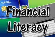 Financial Literacy / ideas and resources for teaching financial literacy to teens - credit, taxes, interest, mortgage, budgeting, and more