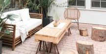 MODERN BACKYARDS / Backyards: Landscaping, decks, patios, paint colors, etc. for the modern home.