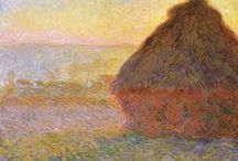 Masterwork Painting Inspired Wedding #1 / Wedding Inspiration based on Claude Monet's Haystacks, (sunset), 1890–1891, Museum of Fine Arts, Boston