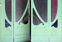 the door is always open / never miss an opportunity to peak behind a door, admire a beautiful door or just open one and see what world unlocks itself.