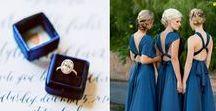 Blue Wedding / Dusky Blue Weddings, Indigo Blue Wedding, blue wedding ideas, blue wedding invitations,