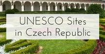 UNESCO Czech Republic / Pins showing all of the amazing UNESCO World Heritage Sites in the Czech Republic!