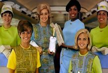 When Air Travel was Groovy! / As a little girl, my aunt was a airline stewardess, and talked of such glarmous and exciting times! sometimes I wish I could have attended the fun! / by Erika Spanks