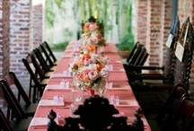 Flowers for the reception / Centerpieces and room decor for day and evening receptions