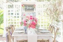 Rustic, boho, and vintage weddings / Wild garden inspired bouquets, ceremony, and reception decor