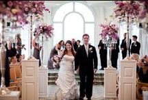 Down the aisle / Beautiful ceremony floral decor for the bride's march to the altar