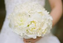 White weddings / All white florals for the wedding ceremony and reception