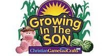 Growing In The Son VBS Program / Introduce kids to Growing In The Son Vacation Bible School - a place where they can plant God's seeds and watch love grow! Transform your church and introduce children to life on the farm where they'll dig into the Bible and learn how they can grow in God. Bible lessons, Bible crafts, Bible games, Bible songs, decor ideas, skits, county fair event and program. FREE with a 1-year $60.00 subscription to www.ChristianGamesandCrafts.com