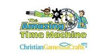 Amazing Time Machine VBS / Join Dr. Hekyll and Professor Jive as they travel back in time TO DISCOVER GOD and learn the powerful story of salvation in our 5-day VBS. FREE with a 1-year $60.00 subscription to ChristianGamesandCrafts.com
