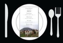 Menus / Wedding Menu to be placed at each setting