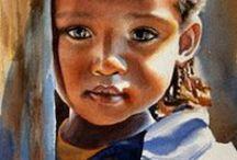 portraits / regards , sourires et expressions .