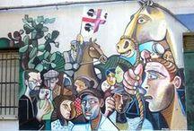 Street art in Sardegna / Murales in Sardegna