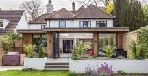 Wood clad extension - Surbiton / Contemporary ground floor rear extension to large detached property in Surbiton | UK | Flat roof | overhang | modern | timber cladding |