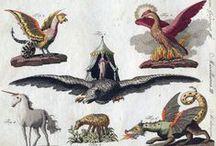 Fantastische dieren / dierfiguren uit de mythologie en de kunst ter inspiratie