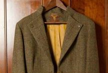 Women's Harris Tweed Jacket / Made with Holland & Sherry Green Heather Mix Herringbone Fancy with Windowpan Harris Tweed and changeant satin lining. Tailored by De Oost Bespoke Tailoring