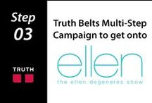 Ellen Degeneres Pins / by Truth Belts - Vegan Fashion