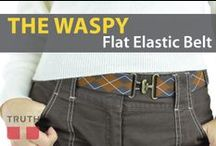 The Waspy Elastic Belt / Elastic belts are where its at! They will fit any body type cause they stretch and are adjustable. Maybe you are in a stage in your life where you are gaining weight, or losing weight - this belt will be with you through it all! Made in Canada by Truth Belts. www.truthbelts.com $30.00 / by Truth Belts - Vegan Fashion