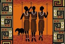 cross stitch Afrika
