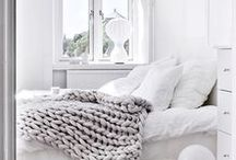 White Decor / Clean white, blue and soft accents for those modern home lovers!