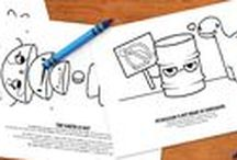 Coloring Pages! / Clever Energy Coloring! Check them out for rainy days in the classroom!