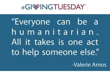 #GivingTuesday / On Tuesday December 2, 2014 , charities, families, businesses and individuals are coming together to transform the way people think about, talk about and participate in the giving season.   It's a simple idea. Find a way for your family, your community, your company or your organization to join in acts of giving. Tell everyone you can about what you are doing and why it matters. Join a national celebration of our great tradition of generosity!! #GivingTuesday