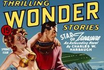 Thrilling Wonder Stories / This board presents cover pictures of Thrilling Wonder Stories. It also has some pictures of the pages within included.  I've pinned some of these pictures myself. These can be found on pulpcovers.com.