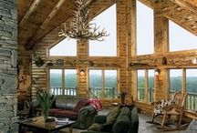 Log Home Decor / Great ideas for decorating log homes and other log structures.
