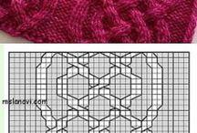 Druty- wzory ściegów