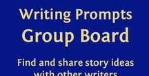 Writing Group - Prompts / This is a group board for writers to share story and character prompts. Follow me and comment on one of my pins if you want an invite :)