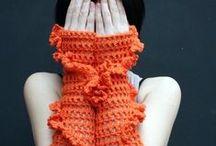 Crochet Mittens / Wrist Warmers