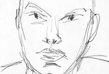 Faces and Portraits: Sketches, Drawings, Paintings, Sculptures