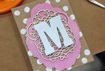 Monogram Crafts / DIY ideas to personalize!