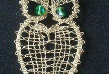 Bobbin lace owl, kantklossen uil