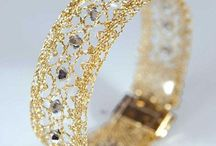 Bobbin lace bracelets,