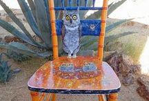 Art Chairs / I am a Artiest I re-purpose old unwanted ugly chairs into works of Art.