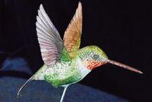 Humming Bird Figurine / Humming Bird figurines I made.