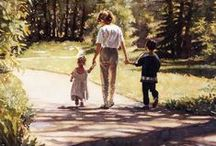 Art -   Hanks, Steve / Water Color Artist (1949-2015)  Steve Hanks is recognized as one of the best watercolor artists today. The detail, color and realism of Steve Hanks'  paintings are unheard of in this difficult medium. A softly worn patterned quilt, the play of light on the thin veil of surf on sand, or the delicate expression of a child—-Steve Hanks captures these patterns of life better than anyone.