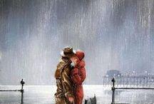 Art -  Rain Kiss Romance