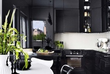 Interior black end white