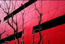 Red in architecture / Buildings, facades, interiors