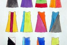 Colour Blocking / Examples of patterns and inspiration for colour blocked sewing.
