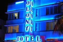Neon-Deco / Neon signs of a distinctively Art-Deco iconography, typography or architectural context.   / by alison lamons