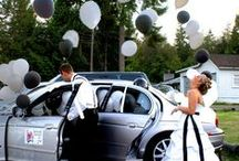 Brides & Cars / As the bride & groom, you need to arrive in style and make a clean getaway to the honeymoon.  I love a cool car.  Here are a few of my favorite wedding transportation ideas.