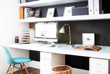 Office Space / Design ideas and inspiration for home offices and / or small work areas created within a multiple-use space