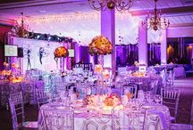 LED uplighting / Pics of events featuring LED Uplights. Fabulous Events has all wireless LED Lights. Check us out!