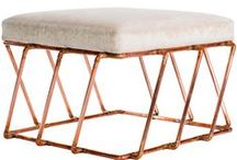 Decorating with Copper / A collection of our favorite Copper Furniture, Copper Accessories and Copper Interiors for those looking to add this bold metallic to their home decor.